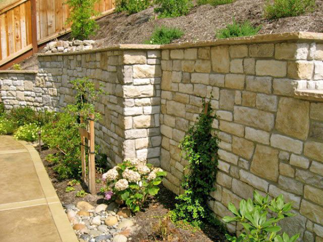 Cultured Stone Veneer Wall