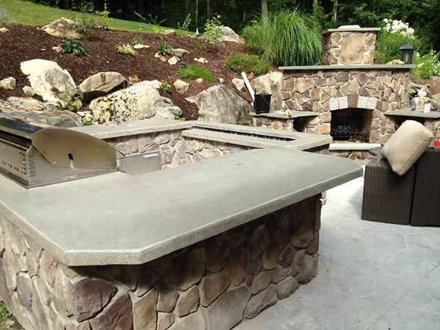 Outdoor Kitchen Concrete Countertop